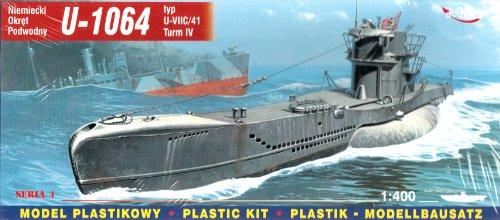 Mirage Hobby 40415, 1: 400 échelle, U-1064 typ U-VIIC / 41 Turm IV sous-marin allemand, kit de modèle en plastique
