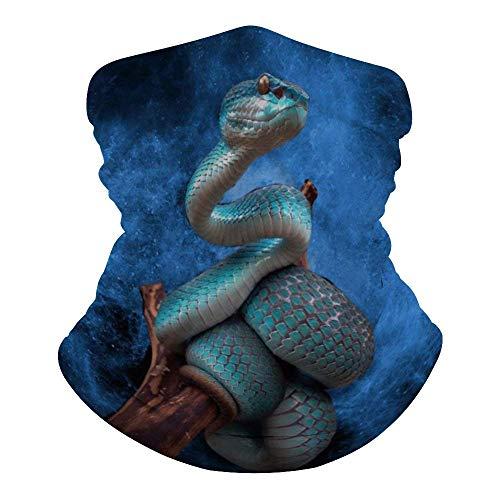 GUUI Sapphire Snake Bandana Gesichtsmaske Staubdicht Winddicht Warm Variety Kopftuch Sturmhaube für Damen Herren