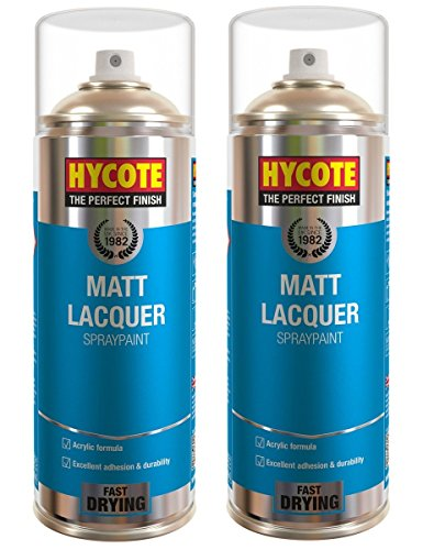 2 x HYCOTE XUK993 Spray Cans, 400 ml, Matt Lacquer
