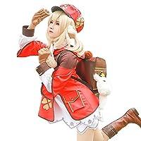 MonenJoyCos 原神 Genshin Impact クレー Klee バッグ付き 制服 コスプレ衣装 コスプレ ワンピース ドレス cos cosplay コスチューム