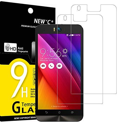 NEW'C 2 Stück, Schutzfolie Panzerglas für Asus ZenFone Selfie (ZD551KL), Frei von Kratzern, 9H Festigkeit, HD Bildschirmschutzfolie, 0.33mm Ultra-klar, Ultrawiderstandsfähig