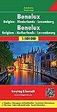 Benelux. Bélgica, Holanda y Luxemburgo, mapa de carreteras. Escala 1:500.000. Freytag & Berndt.:...