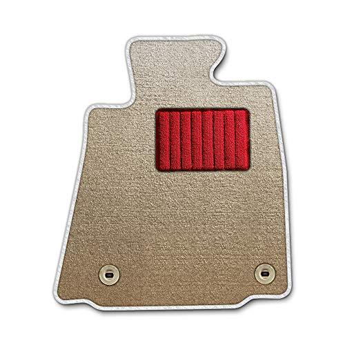 DAD ギャルソン D.A.D エグゼクティブ フロアマット TOYOTA (トヨタ) Vitz ヴィッツ NCP15 年式H11/1〜H12/3 4WD/5ドア 1台分 エレガントデザインベージュ/オーバーロック(ふちどり)カラー : ホワイト/刺繍 :