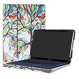 Alapmk Diseñado Especialmente La Funda Protectora de Cuero de PU para 14' ASUS ZenBook 3 Deluxe UX490UA Series Ordenador portátil,Love Tree