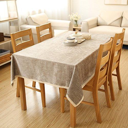 DSAQAO Volltonfarbe Chenille esstisch tischdecke, Kühlschrank Abdeckung-Handtuch Coffee Table Tuch abdecken Tabelle abdeckungen-B 60x60cm(24x24inch)
