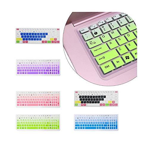 Keyboard cover - Carcasa protectora de teclado para Asus K50, silicona para ordenador portátil ASUS K50-Green