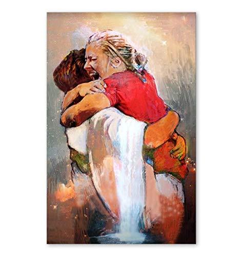 Merchansite Jesus First Day in Heaven Canvas