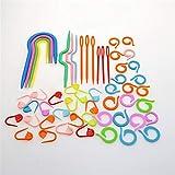 N\A Kit de Costura Crochet Home Use Stitch Cross Stitch Gancho de Ganchillo Marcadores de plástico 1 Set Plástico Punto Punto de Bloqueo Cerradura Aguja Clip Art Craft Taming (Color : 1 Set)