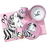 Ritzenhoff & Breker Kindergeschirr Set Happy Zoo 8-teilig - Zebra Zoe