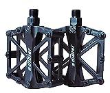 ProHomer Pedali, Pedale da Ciclismo 9/16 di Pollice con Sigillato Antiscivolo Durevole/Strumento di Installazione Gratuito, per Bici da Trekking BMX Mountain Bike da Strada Universale (Nero)