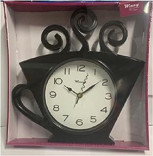 Relógio De Parede Xicara 30x28 Preto - Wincy