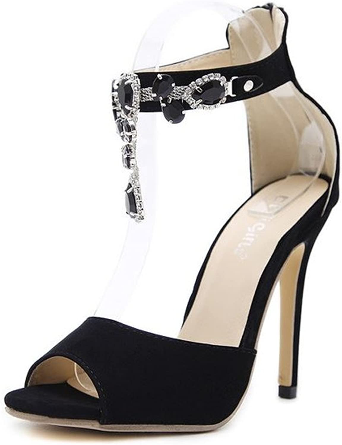 Women's Dressy Closed Pointed Toe D-Orsay Pumps Buckled Ankle Strap Stiletto High Heels shoes
