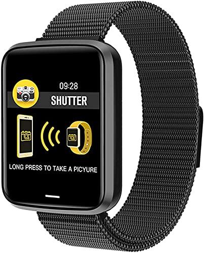 Bluetooth 1.3 Pulgadas Smart Watch Ip68 Impermeable Dinámico Ritmo Cardíaco Ritmo Arterial Monitoreo De La Presión Arterial A Prueba De Agua, Reloj De Salud Deportivo Adecuado para Android iOS, B