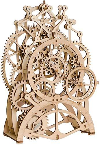 ROKR 3D-Puzzle-Modellbausätze aus Holz für Jugendliche und Erwachsene zum Bauen, mechanische Pendeluhr Kit