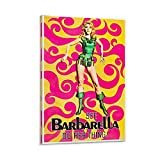 QEQEQE Filmposter Barbarella, nostalgisches Poster, Retro,