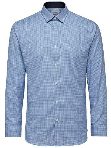 SELECTED HOMME Herren Shdonenew-mark Shirt Ls Noos Businesshemd, Skyway, S EU