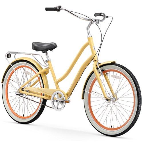 sixthreezero EVRYjourney Women's 3-Speed Step-Through Hybrid Cruiser Bicycle, 26' Wheels and 17.5' Frame,...