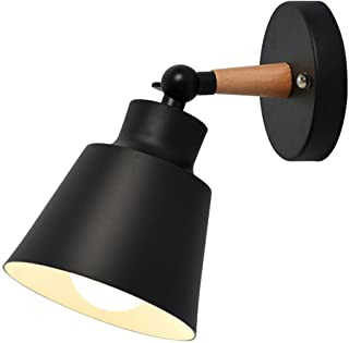 Wall Light fixtures Nordic Wall Sconce Lamps Macaron Edison Copper lamp Holder Aisle Lights Corridor Lamp Bedside Reading Light E27(Color : Black)