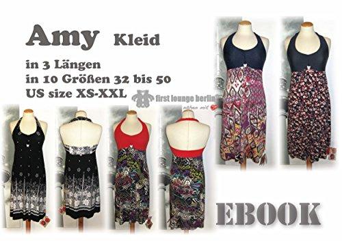 Amy Nähanleitung mit Schnittmuster auf CD für Neckholder Jerseykleid in 3 Längen, longshirt, Kleid