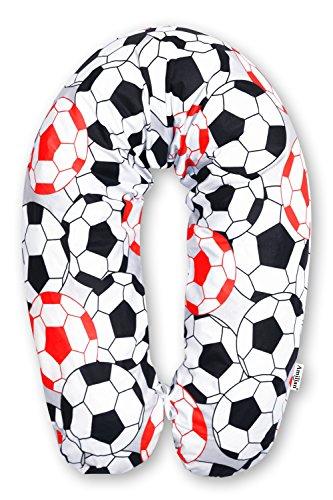 Amilian® STILLKISSEN MEGA WEICH Lagerungskissen Seitenschläferkissen ink.Bezug 170cm NEU XXL Fußball Rot