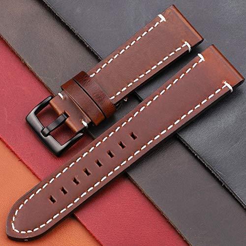 ZXF Cinturino orologio Pelle Vintage Genuine Leather Belt cinturini 18 millimetri 20 millimetri 22 millimetri 24 millimetri delle donne della vigilanza degli uomini della vigilanza fascia degli access