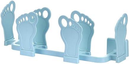 Cabilock Bad pantoffels rek slippers houder schoenen kleerhanger muur gemonteerd hangen telescopische handdoekhouder badka...