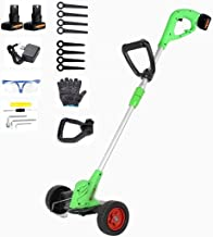 Rotary Mowers Grass Trimmer inalámbrico recargable Weeder con ruedas Electric Push Lawn Cortacésmago Pequeño Multifunción Jialele (Size : 21VBattery*2)