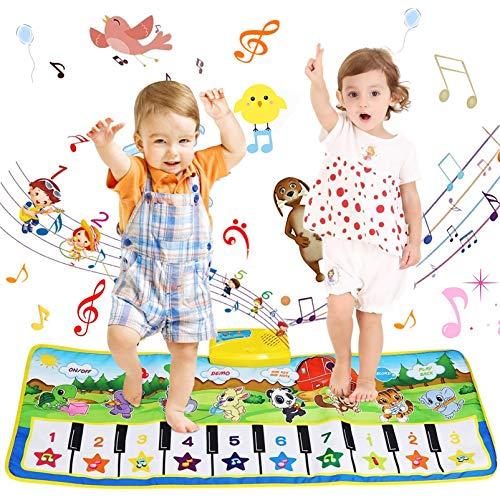 Alfombra de baile instrumentos musicales,Alfombrilla de piano de juguete niños,Alfombra de baile musical niños,alfombra de piano bebé,Alfombra musical de juguete,Alfombra de baile niños (A)