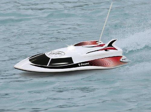 RC Boot / Speedboot / Rennboot - Licht - RTR - ferngesteuert inkl. AKKU und Batterien - einfach zu steuern