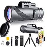 Best Monoculars - Monocular Telescope with Smartphone Holder & Tripod 12X50 Review