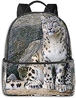 ユキヒョウカブ動物 リュックバック リュックナップザック バッグ ノートパソコン用のバッグ 大容量 バックパックチ キャンパス バックパック 大人のバックパック 旅行 ハイキングナップザック