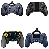 Universal Game Controller Organizer Wall Rack Wall Mount Wall Clip Wall Hanger Wall Flexible Stand for Xbox One PS4 Switch Pro Game Controller 4/PK - NO Game Controller - No Falling - Upgrade Style