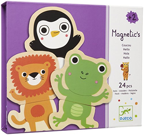 Djeco Calendarios de Adviento Imanes Y Juguetes Magnéticos Coucou, Multicolor (DJE-006)