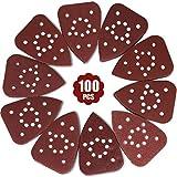 GALAX PRO Carta Abrasiva 100Pezzi, Kit di Fogli Abrasive per Levigatrice Mouse 18Tipi 10x60/80/100/120/150/180/240/320/400/600 Graniglie (140x140x80mm) Ideale per Levigare, Lucidare