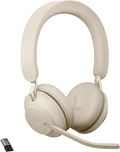 popular Jabra Evolve2 65 USB-A MS Stereo popular - Beige Wireless popular Headset/Music Headphones sale