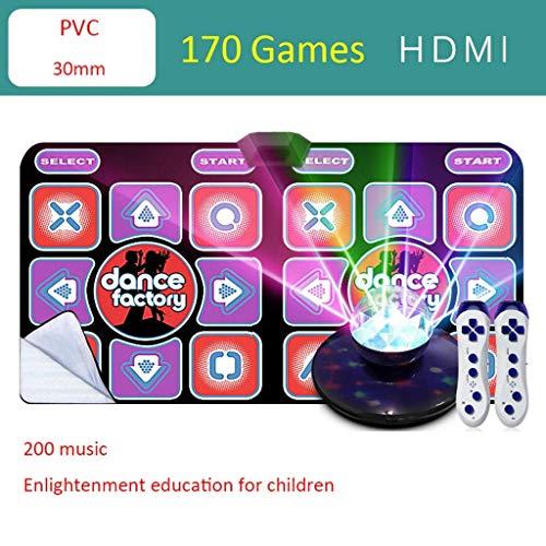 Gemeinsamer 2020 Tanzteppich for Erwachsene, PC-TV Dual-Use-Schnittstelle 170 Lauf Spiel-Tanz-Matten for Kinder und Erwachsene 200 Musik Home Somatosensory Dancing Machine -2020 Tanzmatte dance matte