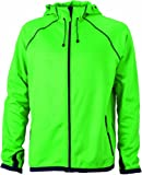 James & Nicholson Herren Jacke Fleecejacke Men's Hooded grün (green/navy) Large