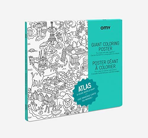 Poster géant de l'atlas à colorier