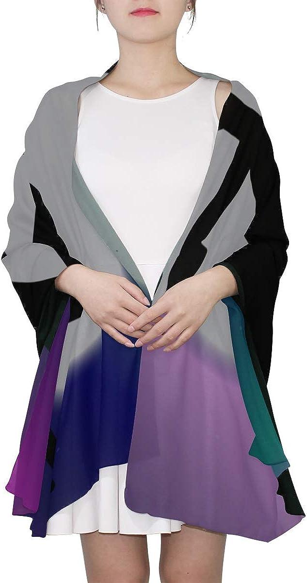 Womens Fashion Scarf Kawaii Cute Unicorn Moon Shawl Wraps Scarf Toddler Lightweight Print Scarves Women Scarf Shawl Scarf Wrap