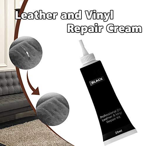 Fxhan Professional DIY Leather Vinyl Repair Cream for Furniture Couch Car Seats Sofa