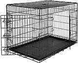 Defacto Hundetransportkäfig 2 Türen faltbar Hundebox Gitterbox Transport Käfig Drahtkäfig Katzen, Hasen, Nager Kaninchen Geflügel Käfig XXL Gr. 105x71x79 cmGewischt 12,8kg DF-HB-05XXL