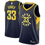ANMOQI Camiseta de baloncesto Turner para hombre, Indiana Myles Sports #33 Swingman Jersey Pacers Icon Edition-L