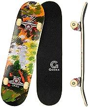 Gonex 31 x 8 Inch Skateboards for Beginners &Pro, Complete Skateboard Double Kick Standard Skateboard 9 Layer Maple Deck Concave Skateboard for Girls Boys Kids Teens Adults, Watercolor