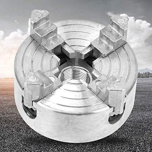 L-WSWS De Metal Platos de Torno, Taladro 4 de mandíbula Autocentrante Manual de Chuck Abrazadera Accesorio for Mini Metal Torno, Herramienta de la carpintería Z011A aleación de Zinc for la máquina de