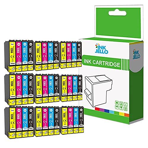 InkJello Compatibile Inchiostro Cartuccia Sostituzione Per Epson Stylus Office BX305F BX305FW Plus Stylus S22 SX125 SX130 SX230 SX235W SX420W SX425W SX430W SX435W SX438W T1285 (B/C/M/Y, 36-Pack)