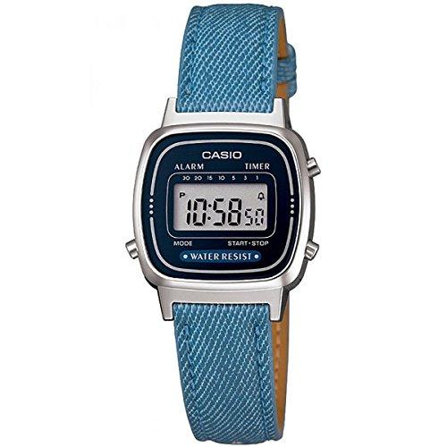 Casio Damen Digital Leder Armbanduhr LA670WL2A2