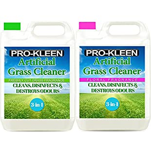 Pro-Kleen Artificial Grass Cleaner - Perfect for Homes with Dogs - Cleans, Disinfects, Deodorises & Fragrances - 2 x 5 Litre Super Concentrate Makes 30 Litres