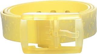 Tie-Ups Yellow Plastic Belt For Women
