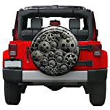 """Genuine Boomerang Colortek Rigid Spare Tire Cover Dynamic full color graphics printed directly to tire cover face Molded plastic face w/ heavy duty vinyl band Fits 32"""" Diameter Spare Tires - Includes Jeep Wrangler JK (255/75R17), (255/70R18) & (245/7..."""