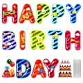 UODBUYO Happy Birthday Yard Sign with Stakes Colorful Weatherproof Letter Parade Yard Signs Outdoor Lawn Decorations Birthday Party Decorations